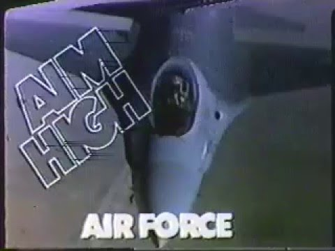 aim high 1980s u s air force commercial youtube. Black Bedroom Furniture Sets. Home Design Ideas