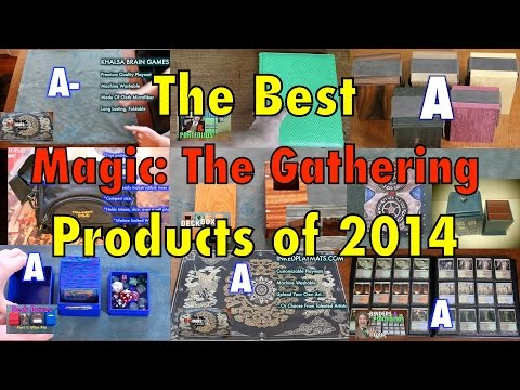 The Best Magic: The Gathering Products of 2014 - Deck Boxes, Sleeves, Playmats for MTG Pokemon cards