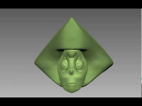 Peridot Zbrush 3D sculpt 360°