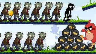 Angry Birds Fry Zombie - BURN ALL ZOMBIE BY FORCING MASSIVE TNT!