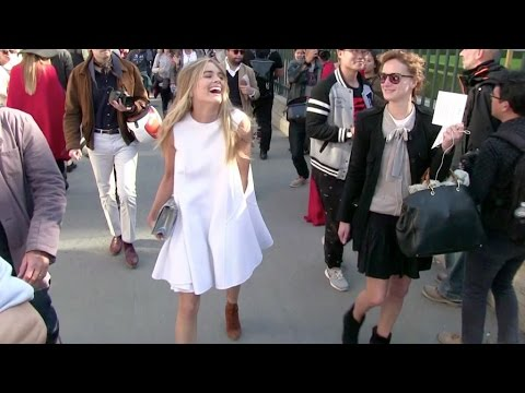 Prince Harry's ex-girlfriend Cressida Bonas attending the Dior Fashion Show in Paris