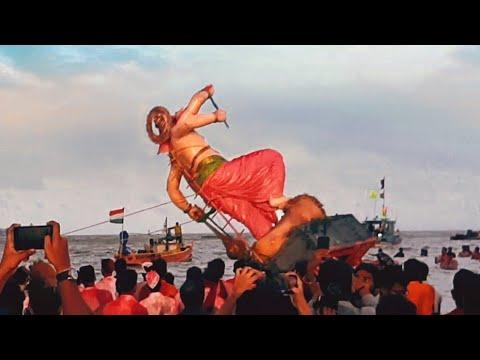 Mumbai ganpati visarjan 2019 Girgaon chowpatty | Exciting visarjan scenes you never seen before
