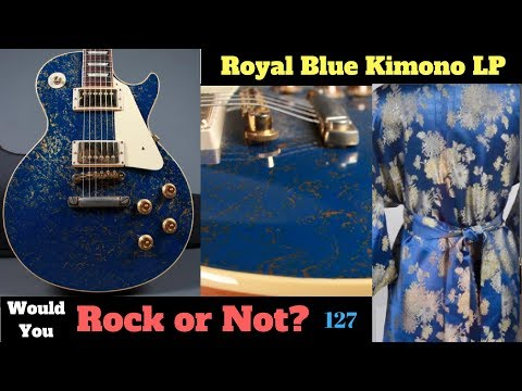 Royal Blue Kimono Les Paul | 1957 Gibson R7 Reissue Blue and Splatter Gold | WYRON #127