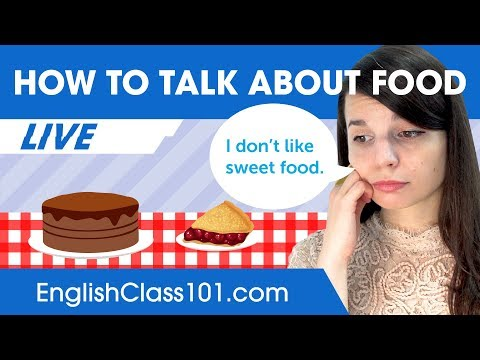 How to Talk about Food in English - Beginner English thumbnail