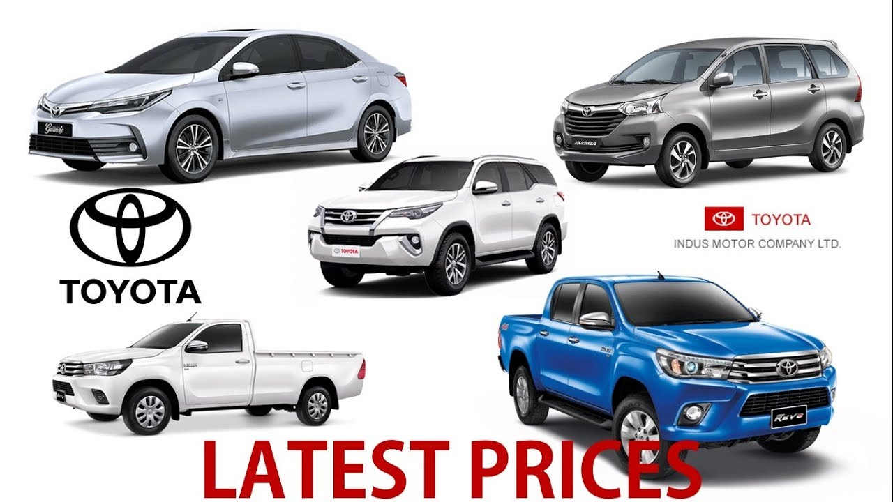 Toyota All Cars Prices In Pakistan Latest September YouTube - All toyota cars with price