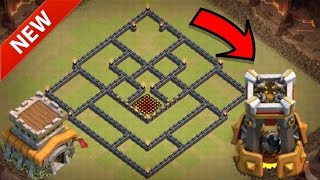 NEW CoC TH8 Trophy Base! Best Ever 2016 Town Hall Eight Defense Layout! (Clash of Clans)