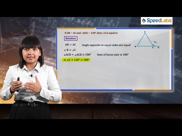 ISOSCELES TRIANGLE for ICSE class 9th (MATHS) : Q3