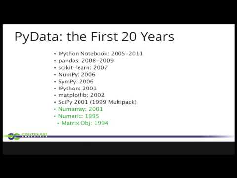 Image from Building the PyData Community