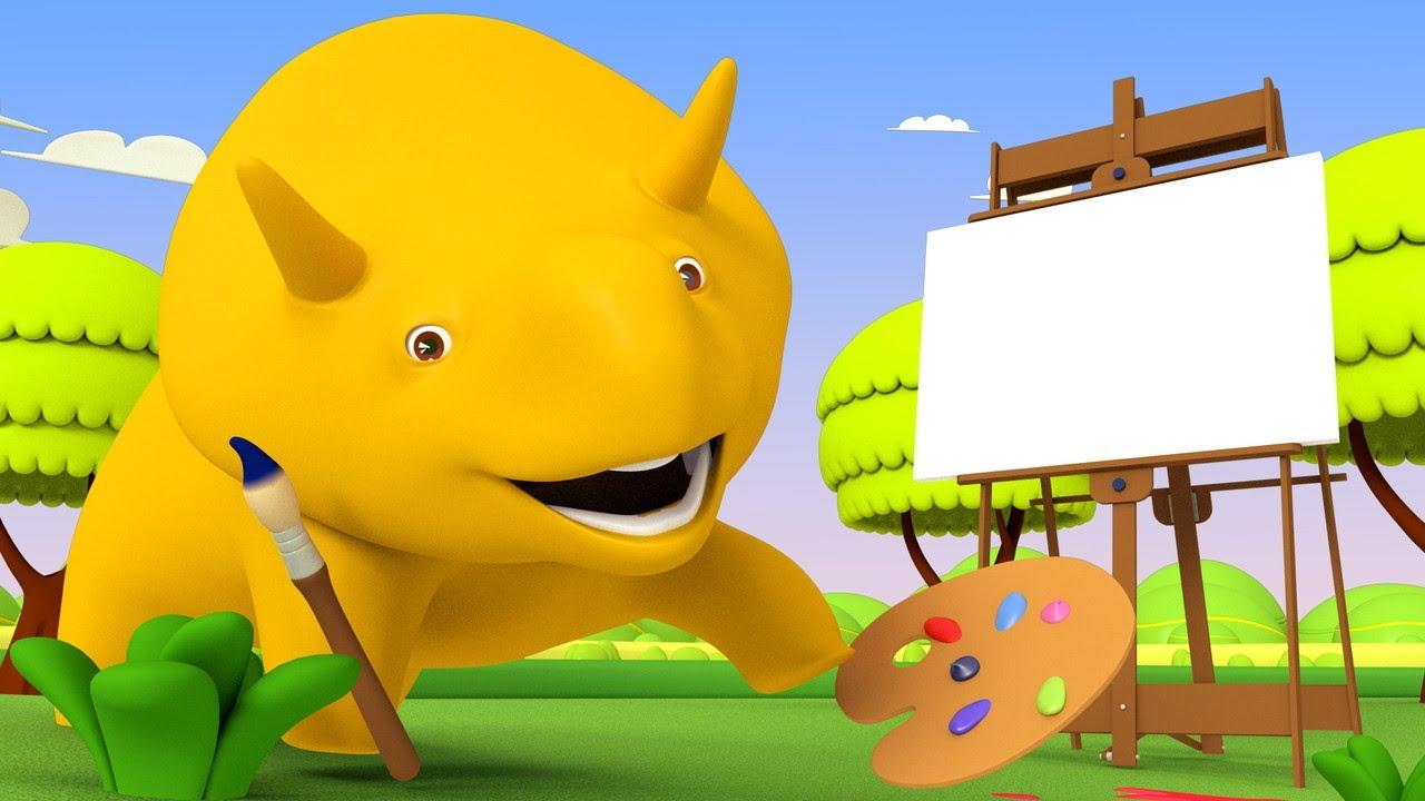 Apprendre les Formes - - Apprendre avec Dino 👶 🚚 Dessin animé éducatif pour enfants