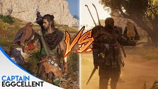 Assassin's Creed Odyssey VS. Assassin's Creed Origins (Details & Animations)
