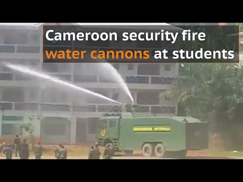 Continued Cameroon protests sees security forces fire water cannons at students