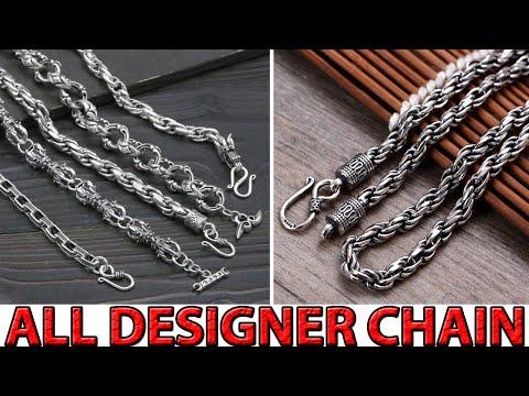 ALL NEW DESIGNER'S SILVER CHAIN DESIGNS FOR MEN || SILVER ROPE CHAIN