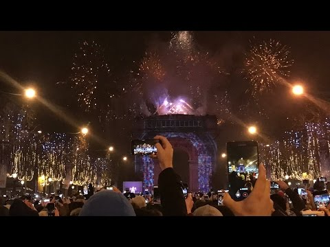 2017 Nouvel An / New Year - Arc de Triomphe Paris - GoPro Hero 5