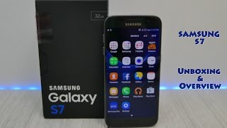 Samsung Galaxy S7 Unboxing & Overview - Black Onyx
