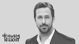 How to draw Ryan Gosling (Easy Tutorial) Step by Step Guide [MUST WATCH]