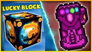 T Gaming Thử Thách Chế Tạo Lucky Block Siêu Vip ?? Găng Tay Vip Hơn Găng Tay Vô Cực Thanos