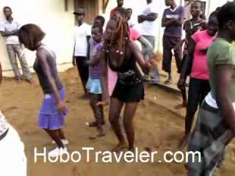 Dancing African Girl  Cote d'Ivoire