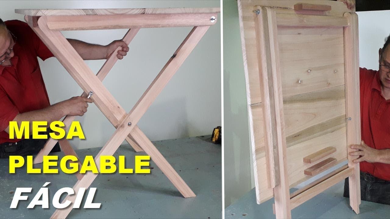Fabricar Mesa Plegable Madera.Mesa Plegable De Madera Facil Paso A Paso Tutorial De Carpinteria