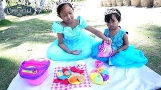 Disney Princess Cinderella  💖 Picnic Toys + Mermaid 💖 Mainan Anak Let's Play