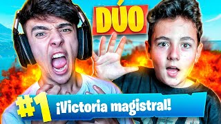 MI PRIMERA VICTORIA CON MI HERMANO en FORTNITE: Battle Royale!! - Agustin51