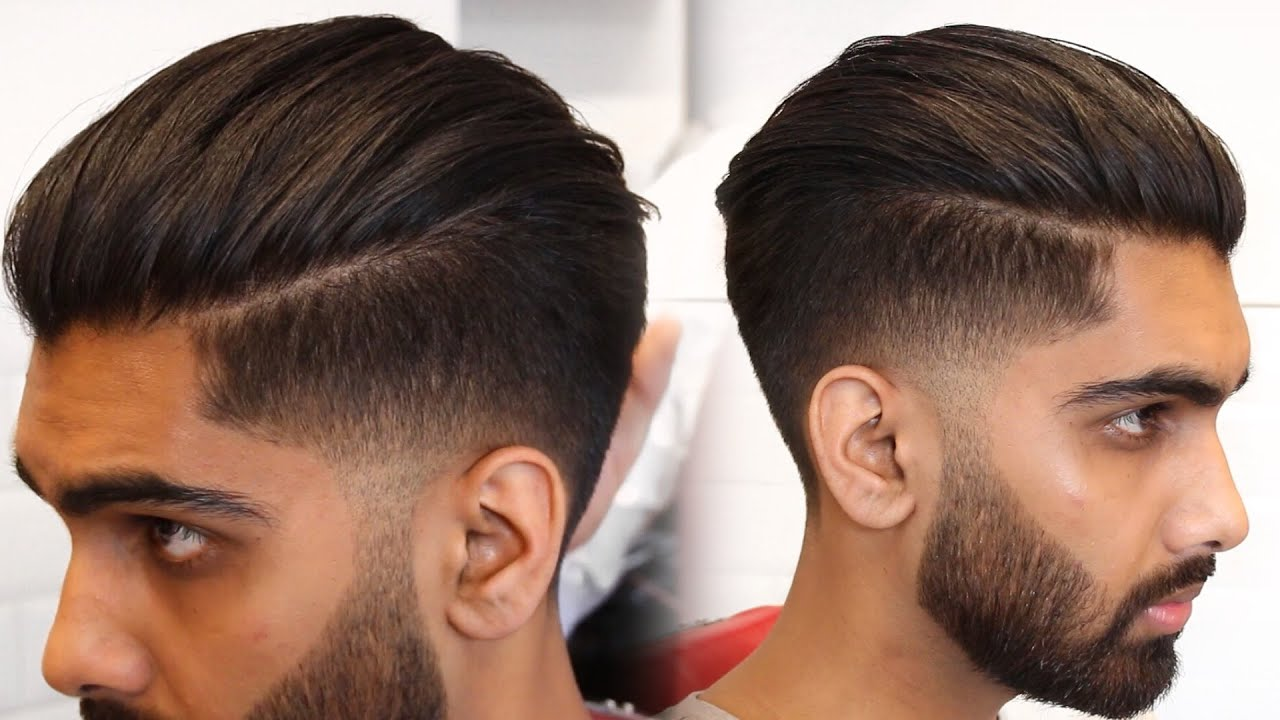 Mens Modern Slick Back Hairstyle & Haircut Tutorial 2017 Mens