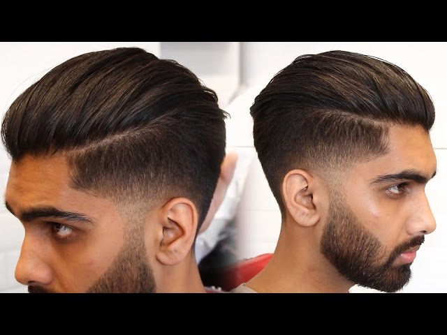Mens Modern Slick Back Hairstyle Haircut Tutorial 2019