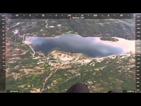 Paragliding i Sulitjelma 20 08 14