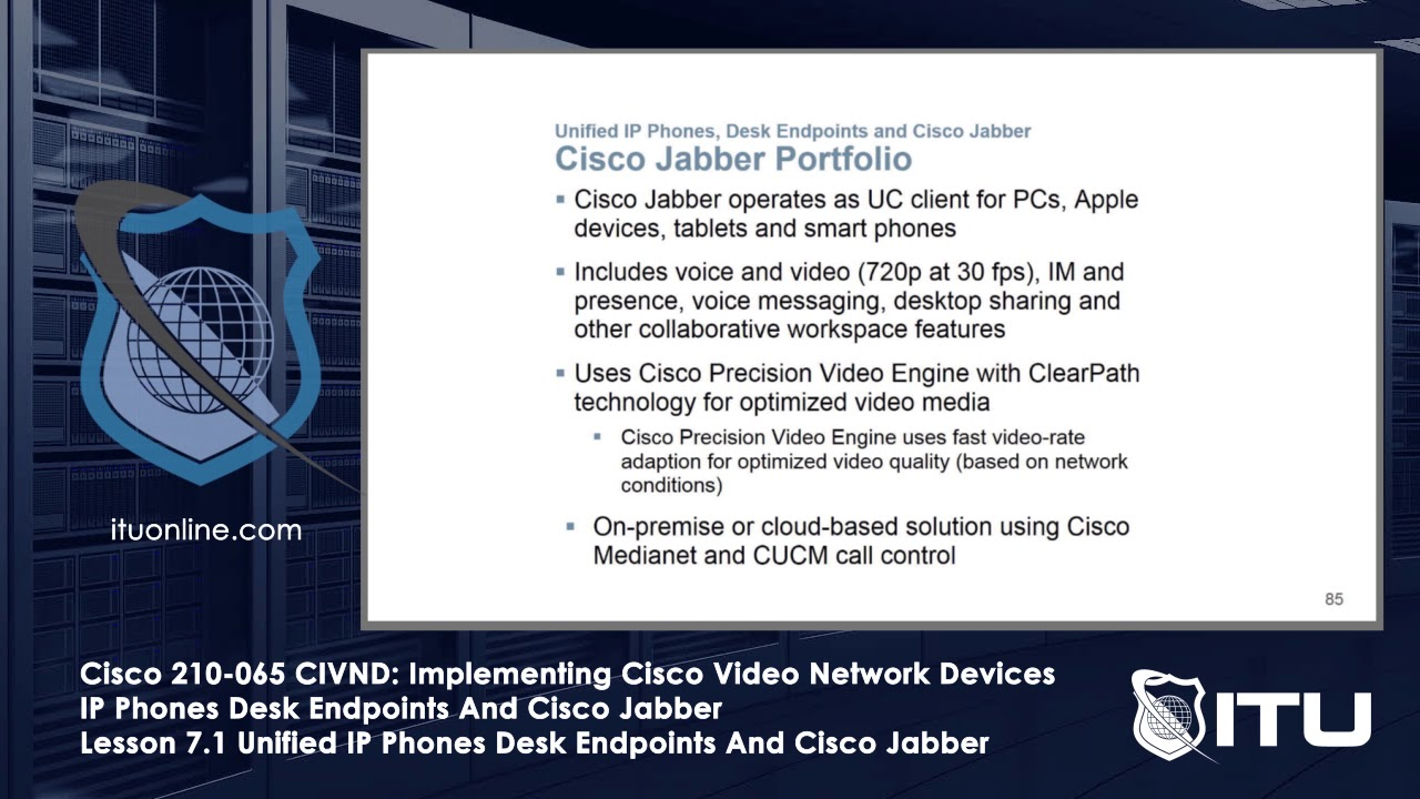 Cisco 210-065 CIVND: Implementing Cisco Video Network