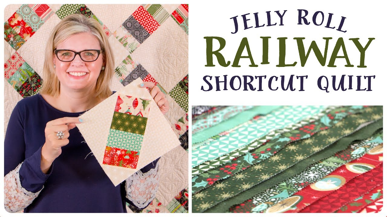 Jelly Roll Railway Shortcut Quilt - Fat Quarter Shop - YouTube : youtube quilting jelly rolls - Adamdwight.com