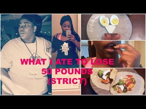 what-i-ate-to-lose-50-pounds-|-strict-day