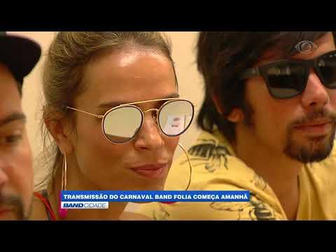 """Band Cidade - """"Transmissão do Carnaval Band Folia começa amanhã"""""""