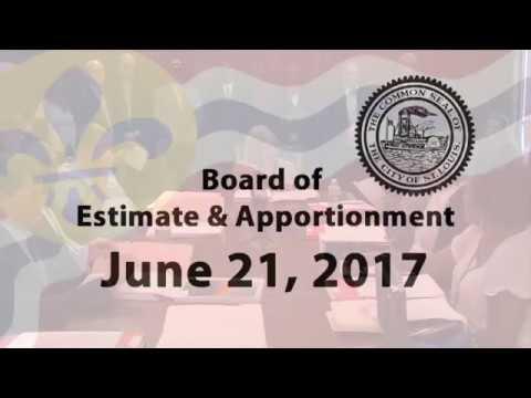 Estimate & Apportionment  June  21,2017
