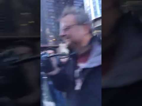 Americans mooning the Trump Tower in Chicago