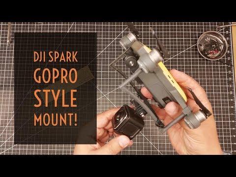 Video Drone - DJI Spark GoPro Style Camera Mount!