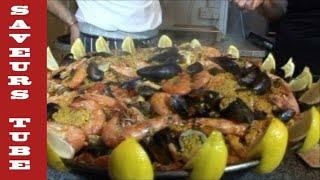 "How to make Paella with TV Chef Julien Picamil from ""Saveurs"" Dartmouth UK."