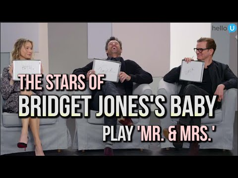 Renée Zellweger, Colin Firth & Patrick Dempsey Play 'Mr. & Mrs.'