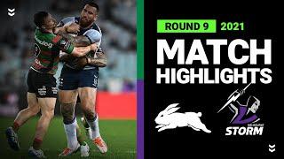 Rabbitohs v Storm Match Highlights   Round 9, 2021   Telstra Premiership   NRL