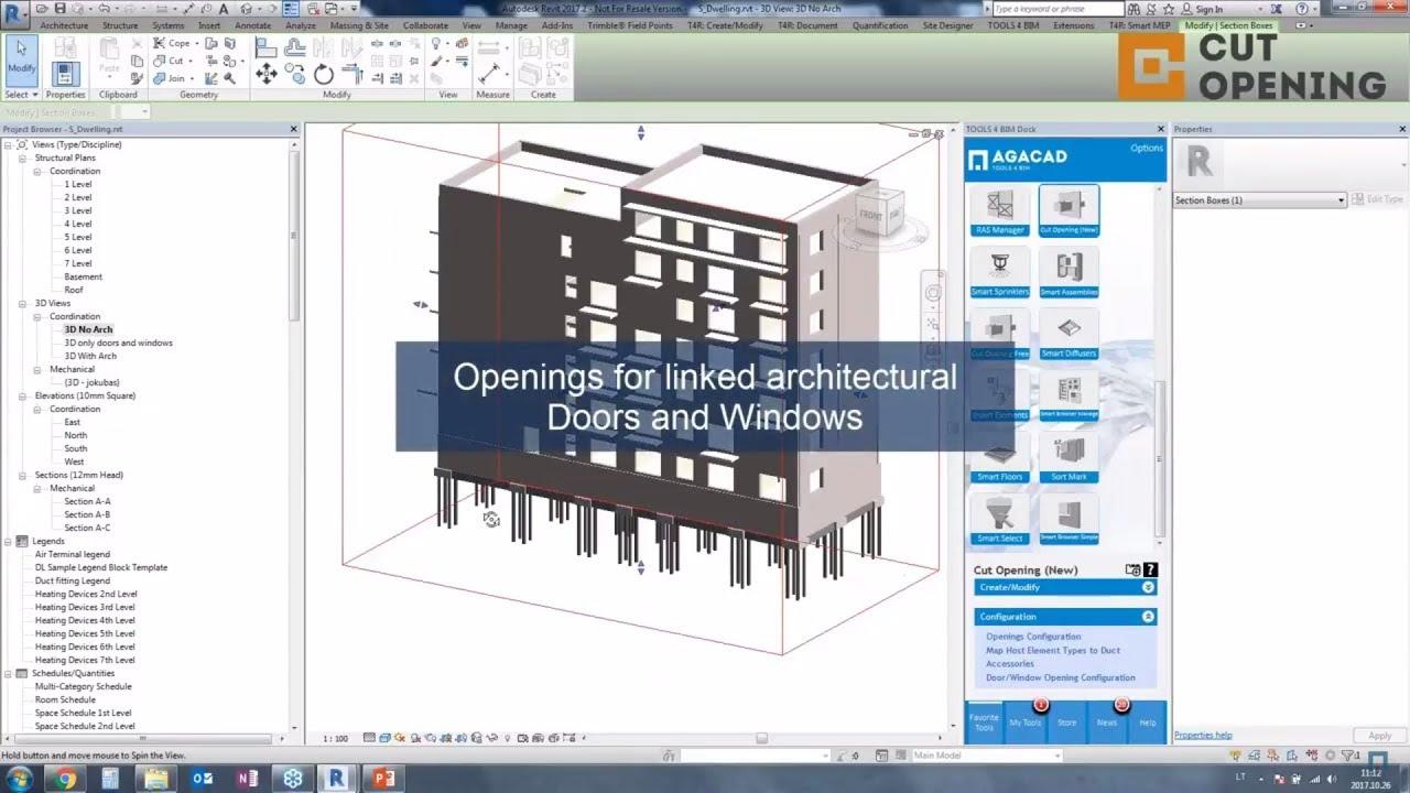 BIM software for creating openings in Revit | AGACAD TOOLS4BIM