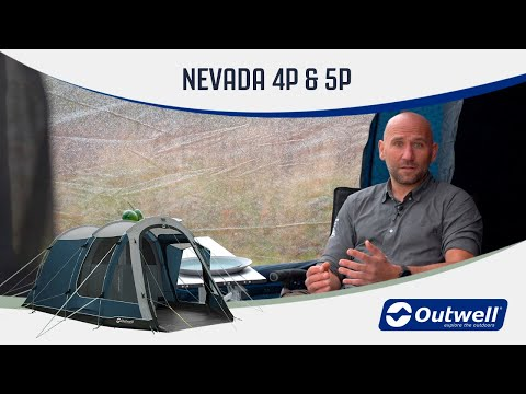 Outwell Nevada 4P & 5P - Premium Poled Camping Tent (2020) | Innovative Family Camping