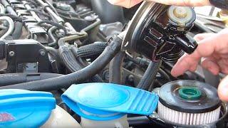 Замена фильтров на Фольцваген гольф 6, 1.6 TDI. Volkswagen 6. Воздушный, топливный, салонный.