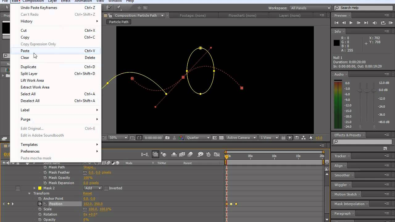 Stop Sign Shape >> How to make particles move along a path, mask or shape with After Effects - YouTube