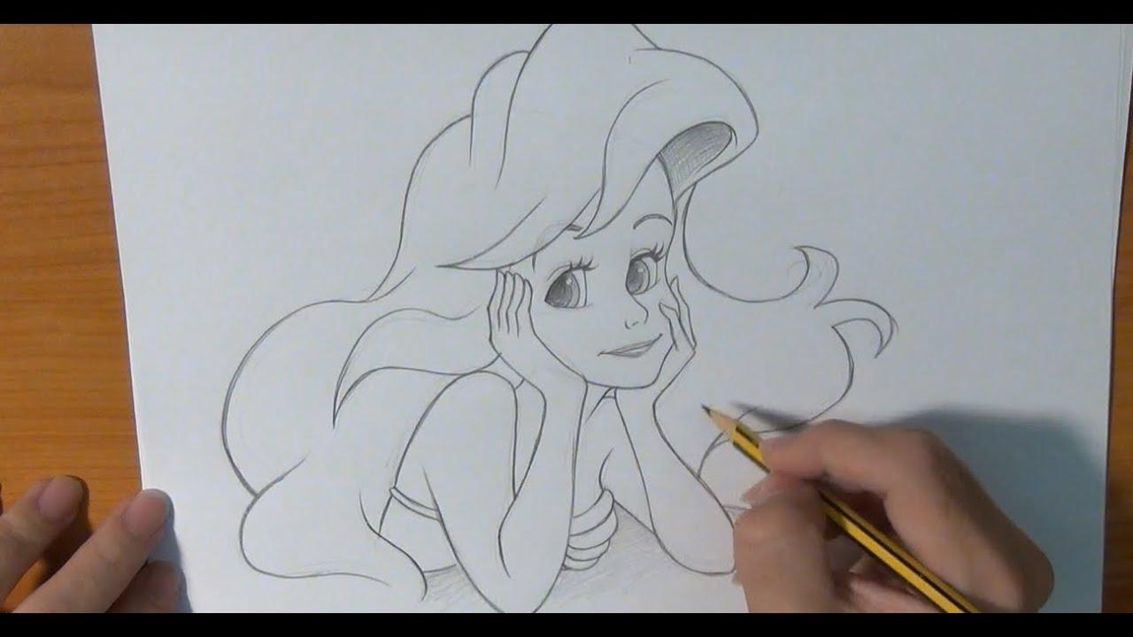 Dibujar a la Sirenita - YouTube
