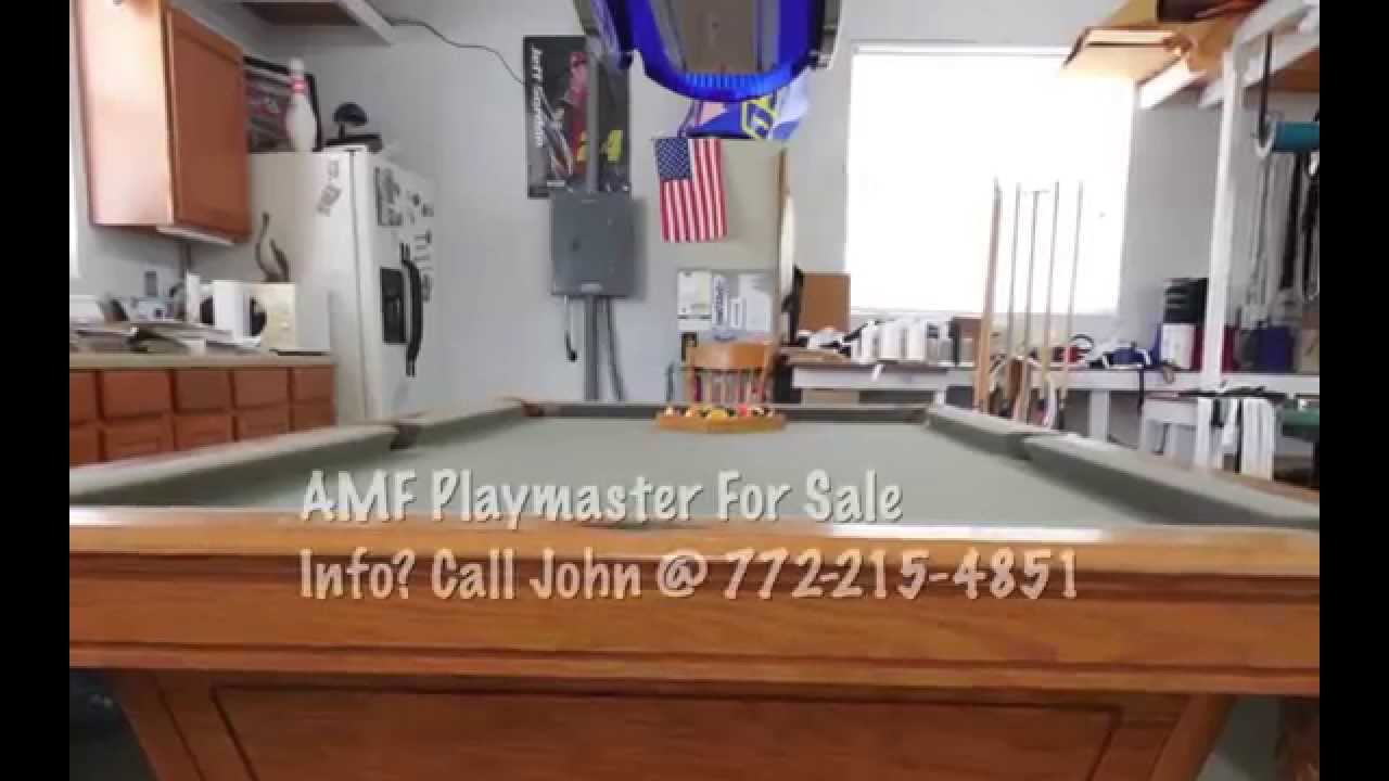 AMF Playmaster Pool Table YouTube - Playmaster pool table