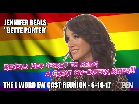 BTLW Specials  Jennifer Beals' Secret to Great OnCamera Kiss The L Word EW Cast Reunion 61417