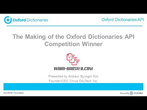 Word Booster   the making of the Oxford Dictionaries API competition winner 1
