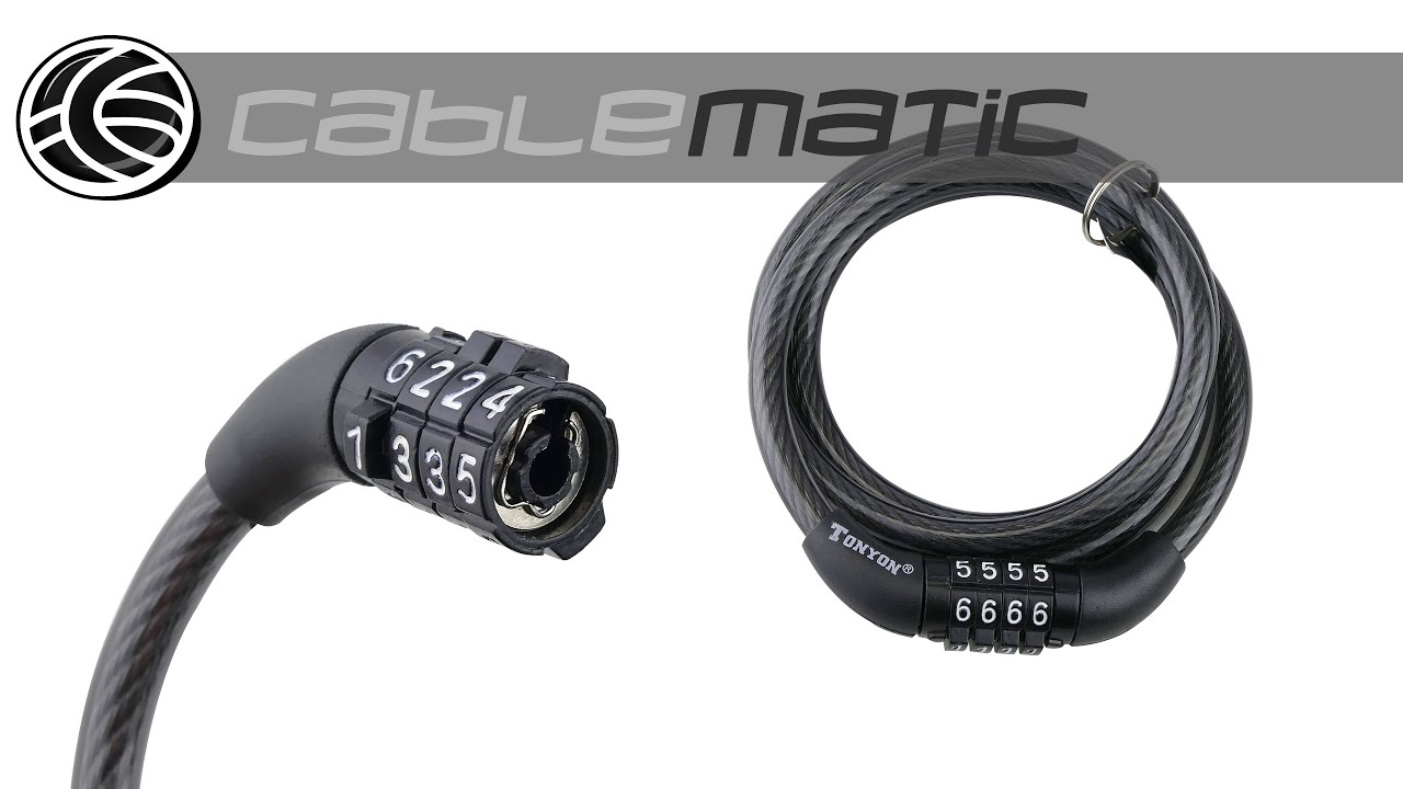 Cable de acero con candado para bicicleta 8x1200mm - Cables de acero ...