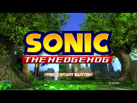 SONIC THE HEDGEHOG (2006) ~ title screens test