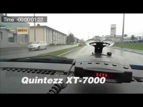Quintezz XT-7000 Plus Radarwarner - Test gegen PoliScan Laser.mov