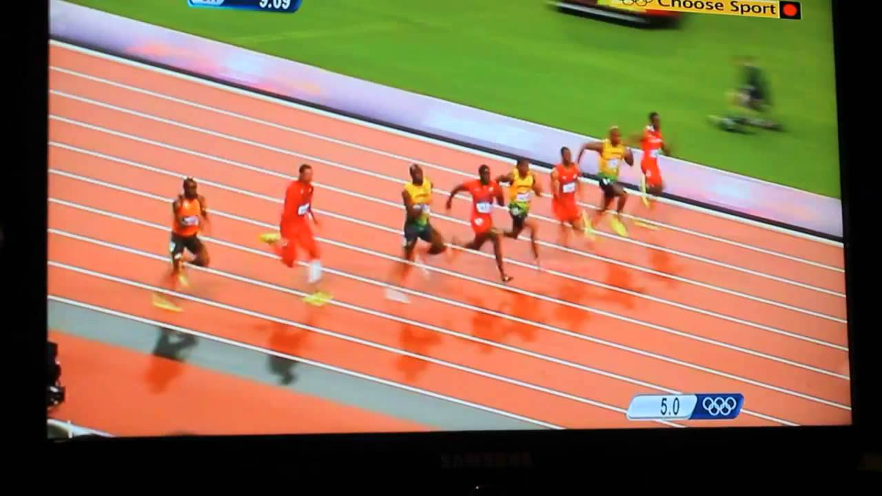 Usain Bolt 100m Final 9 63 Olympic Record London Olympics ...