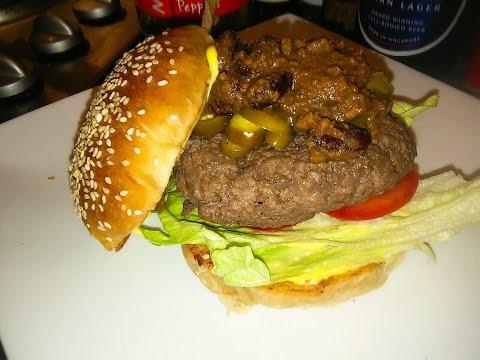 Chilli & Jalapeño-Burger - The Punkrock-Kitchen (even Punks have a good taste)